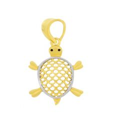 Lucky Turtle Cutout Gold Pendant
