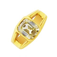 Elite Topaz Gemstone Gold Ring For Him