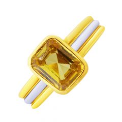 Dainty Topaz Gemstone Gold Ring For Him