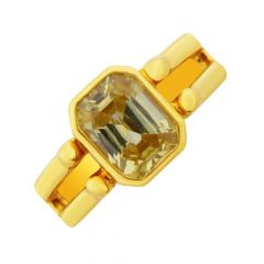 Elegant Topaz Gemstone Gold Ring For Him