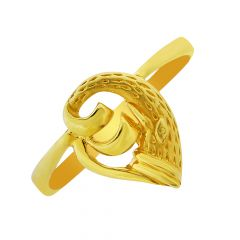 Unique Curve Gold Ring-GRNV-5856