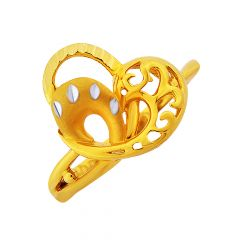 Trendy Heart Cutout Gold Ring