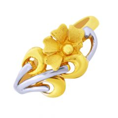 Unique Floral Gold Ring-GRNV-5878