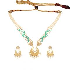 Traditional Cutout Kundan Gemstone Necklace Sets