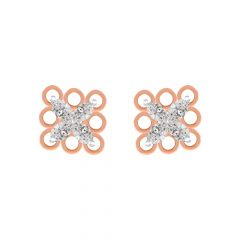 Sparkling Cluster Cutout Diamond Earrings