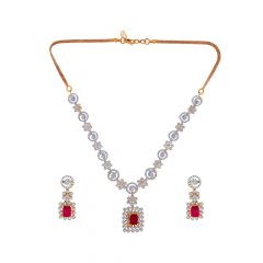 Classical Changeable Gemstone Diamond Necklace Set