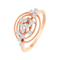 Elite Cutout Scattered Diamond Ring