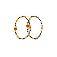 Traditional Textured Najriya Bead Gold Bracelet