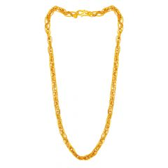 Indo Italian Rope Design 22kt Yellow Gold Chain -CHN21816