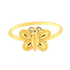 Fluttering Butterfly 22kt Yellow Gold Ring -LRG19881