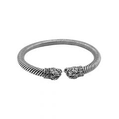 Antique Twisted Oxidised Silver Adjustable Kada -STRKD0185