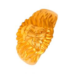 Tiger Head Gold Ring For Him