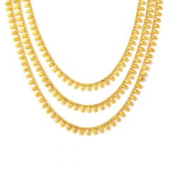 Traditional Layered Graduating Floral Gold Necklace