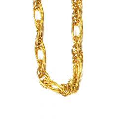 Classy Interlink  Gold Chain For Him