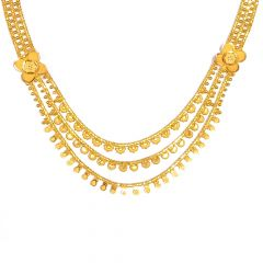Traditional Three layered Gold Neecklace