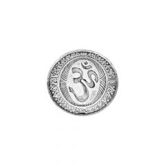 50 Gms Om Silver Coin