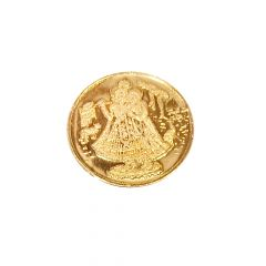 2 Grams 916 Purity Radha Krishna Inscribed Gold Coin-RK-C3