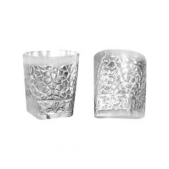 Trendy Engraved Silver 925 Glass( Set Of 2)