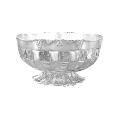 Stylish Design Engraved Silver 925 Bowl Stand