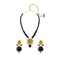 Eternal Black Onyx Thewa Jewellery Necklace Set