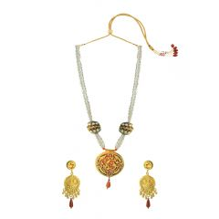 Radiant Pearl Onyx Thewa Jewellery Necklace Set