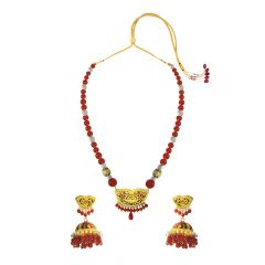 Lavish Gemstone Thewa Necklace Set