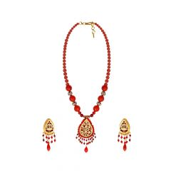 Glamorous Gemstone Thewa Necklace Set