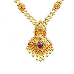 Traditional Bead Gold Necklace