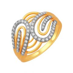 Dazzle Interlink Gold Diamond Ring