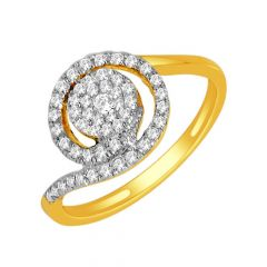 Gleam Cluster Swirl Diamond Ring
