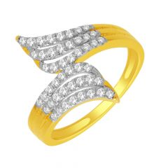 Shine Curvy Diamond Gold Ring