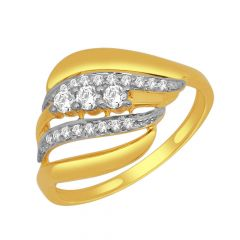 Scintillate Curve Layered Diamond Ring