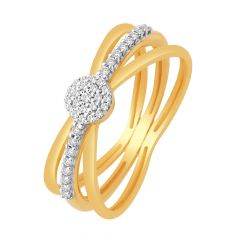 Sizzling Cluster Interlinked Diamond Ring