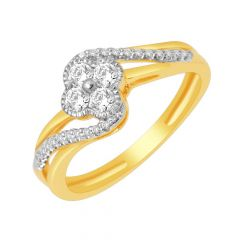 Twinkle Interwined Diamond Ring