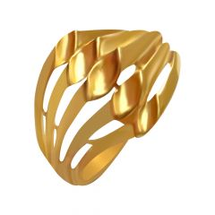 Stylish Concave Gold Ring
