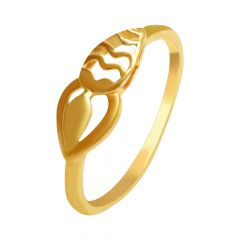 Asymetrical Heart Cutout Daily Wear Gold Ring