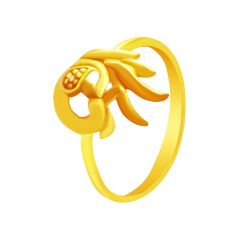 Charming Peacock Traditional Daily Wear Gold Ring