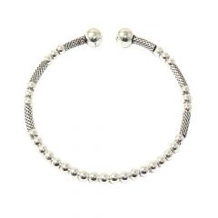 Charming Rope Twist 925 Silver Flexi Bracelet