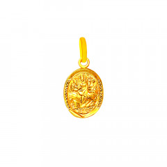 Religious Goddess Durga Infant Gold Pendant