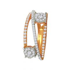 Glittering Cluster Floral Cocktail Diamond Ring - 7LR195