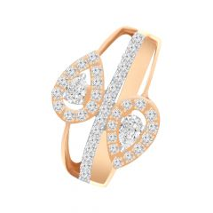 Glittering Framing Drop Diamond Ring -9lr64