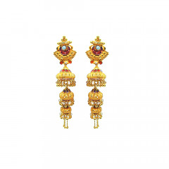 Traditional Daily Wear Yellow Gold 18kt Earring-JNJ-103