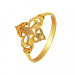 Elite Floral Daily Wear Yellow Gold 18kt Ring-JNJ-113