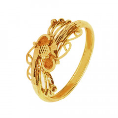 Fashion Daily Wear Yellow Gold 18kt Rings-266-JNJ-216