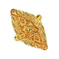Attractive Daily Wear Yellow Gold 18kt Ring-JNJ-217