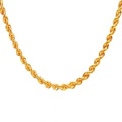 Rope Chain in 18 Kt Yellow Gold (18 Inches)-JNJ037