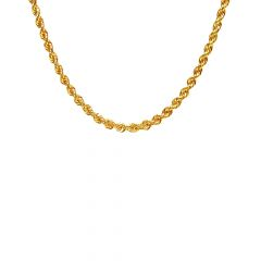 18 Kt Yellow Gold Rope Chain (18 Inches)-JNJ038