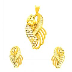 Nature Inspired  Gold Pendant Set-JNJ-082