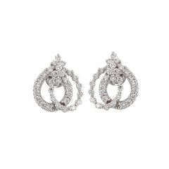 Adorn White Gold Diamond Earring-ER10653