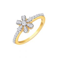 Floral Daily Wear Yellow Gold 18kt with undefined Rings-267-LR10596